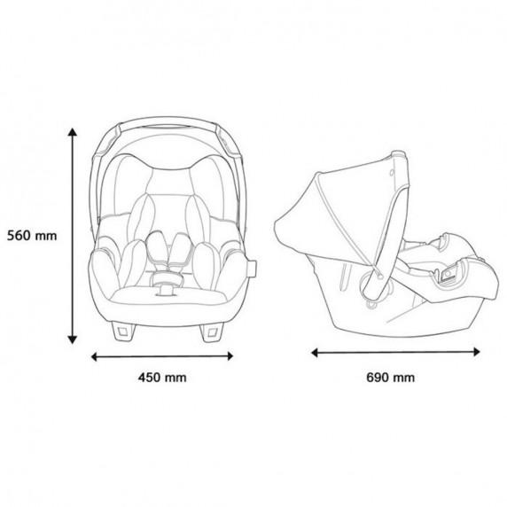 Nania Beone Luxe  autósülés 0-13 kg - Minnie egér