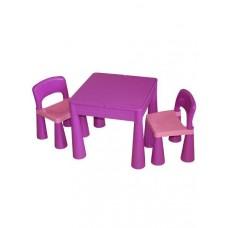 Tega Mamut gyerekasztal székekkel - lila Előnézet