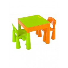 Tega Mamut gyerekasztal székekkel - zöld/narancssárga Előnézet