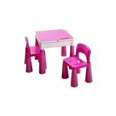 Tega Mamut gyerekasztal székekkel - rózsaszín Előnézet