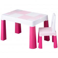 Tega Multifun gyerekasztal székkel - rózsaszín Előnézet
