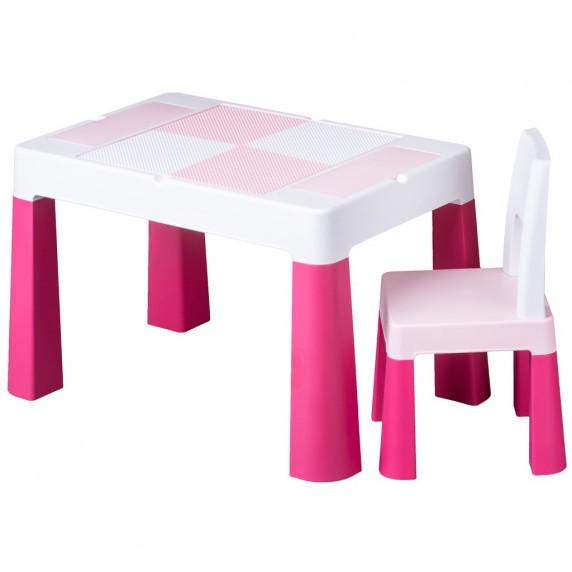 Tega Multifun gyerekasztal székkel - rózsaszín