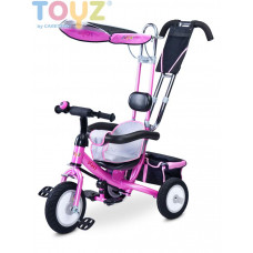 Toyz Derby tricikli tolókarral - pink Előnézet