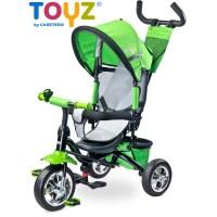 Tricikli tolókarral TOYZ Timmy - zöld