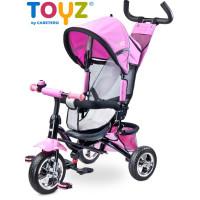 Toyz Timmy tricikli tolókarral - pink