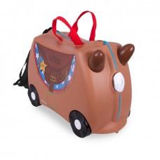 TRUNKI gurulós gyerek bőrönd - Bronco cowboy Előnézet