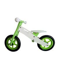 """Wooden Toys Basic fa futóbicikli 12"""" - zöld"""