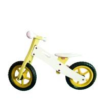"""Wooden Toys Basic fa futóbicikli 12"""" - sárga"""