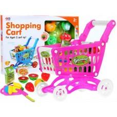 Bevásárlókosár zöldséggel és gyümölccsel - rózsaszín Előnézet